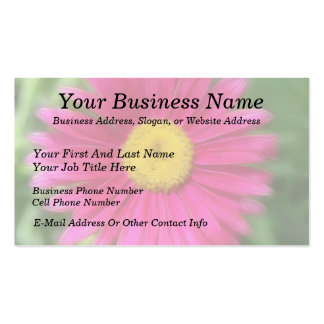 Hot Pink Painted Daisy Business Card Templates