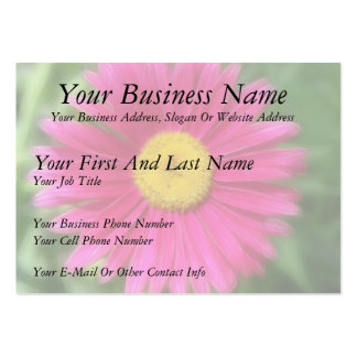 Hot Pink Painted Daisy Business Card