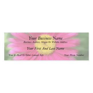 Hot Pink Painted Daisy Mini Business Card