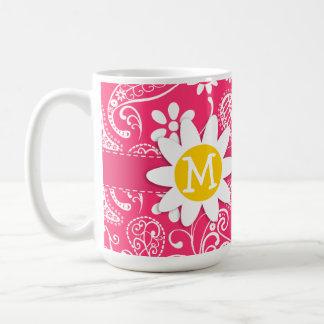 Hot Pink Paisley; Daisy Mugs