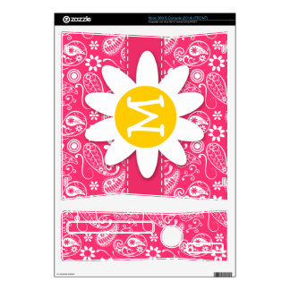 Hot Pink Paisley Daisy Skins For Xbox 360 S