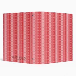 Hot Pink Party Disco Dots Binder