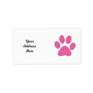 Hot pink Paw.png Labels
