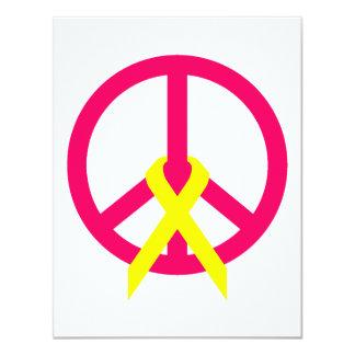 Hot Pink Peace & Ribbon Card
