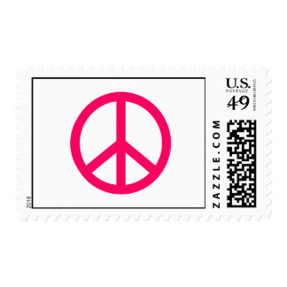 Hot Pink Peace & Ribbon Stamps