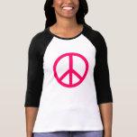 Hot Pink Peace & Ribbon T-Shirt