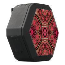 Hot Pink Peach Abstract Pattern Black Bluetooth Speaker