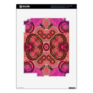 Hot Pink Peach Abstract Pattern iPad 3 Skin