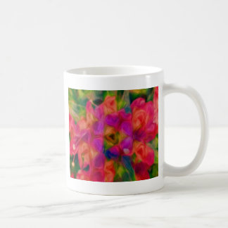 Hot Pink, Peach, and Lavender Floral Abstract Coffee Mug