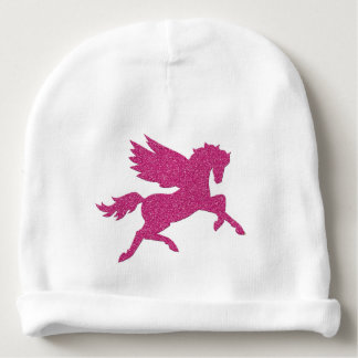 Hot Pink Pegasus Baby Beanie