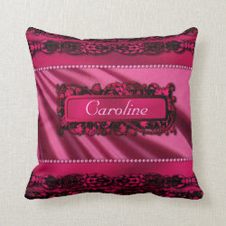 Hot Pink Personal Customised Pillow