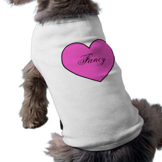Hot Pink Personalized Heart Pet Apparel Pet T Shirt