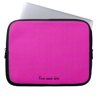 Hot Pink Personalized  Laptop Sleeve