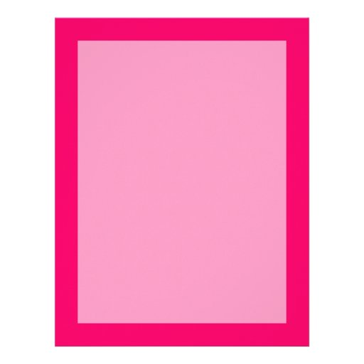 Hot Pink Personalized Letterhead
