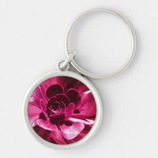 Hot Pink Petals Keychains