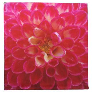 Hot Pink Petals Cloth Napkins