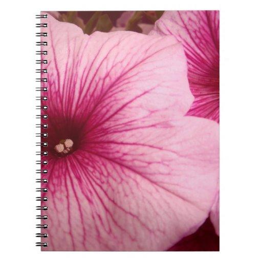 Hot Pink Petunias Spiral Notebook