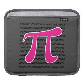 Hot Pink Pi Symbol iPad Sleeves