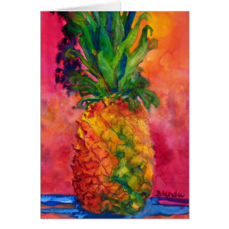 Hot Pink Pineapple Stationery Note Card