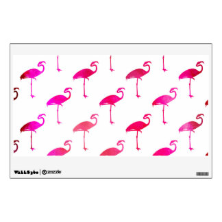Hot Pink Pink Purple Flamingo Watercolor Wall Sticker