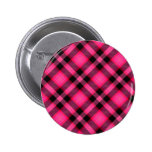 Hot Pink Plaid, Punk, Emo, or Preppy Button