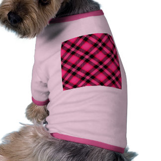 Hot Pink Plaid Punk Emo or Preppy Pet Clothing