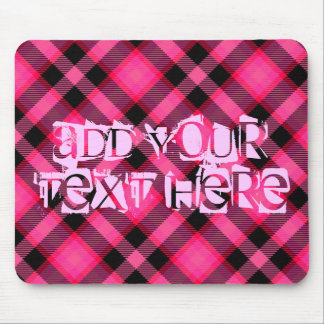 Hot Pink Plaid, Punk, Emo, or Preppy Mousepad