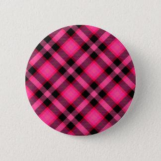 Hot Pink Plaid, Punk, Emo, or Preppy Pinback Button