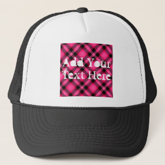 Hot Pink Plaid, Punk, Emo, or Preppy Trucker Hat