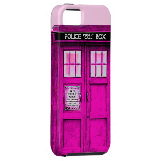 Hot Pink Police Public Call Box iPhone 5 Case