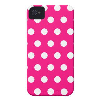 Hot Pink Polka Dot Blackberry Case