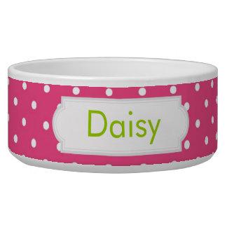 Hot Pink Polka Dot Bowl