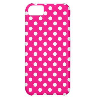 Hot Pink Polka Dot iPhone 5 Case