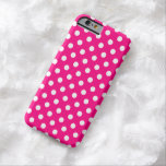 Hot Pink Polka Dot iPhone 6 case