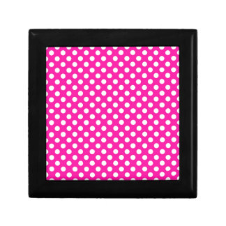 Hot Pink Polka Dot Keepsake Box