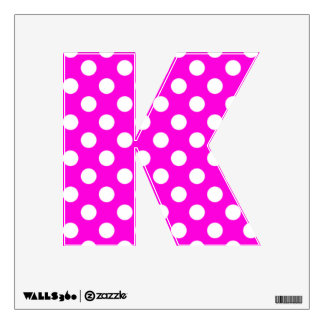 K Letter Images In Pink Pink Polka Dots Kitchen Art | Pink Polka Dots Kitchen Paintings ...