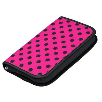 Hot Pink Polka Dot Rickshaw Smartphone Sleeve Organizer