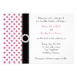 Hot Pink Polka Dot Wedding Invitation