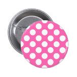 Hot Pink Polka Dots 2 Inch Round Button