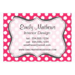 Hot Pink Polka Dots Large Business Cards (Pack Of 100)