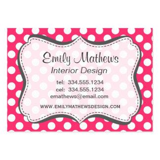 Hot Pink Polka Dots Business Card