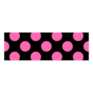 Hot Pink Polka Dots Business Card Templates
