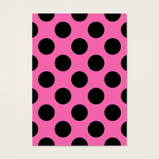 Hot Pink Polka Dots Business Card