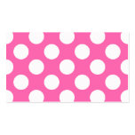Hot Pink Polka Dots Double-Sided Standard Business Cards (Pack Of 100)