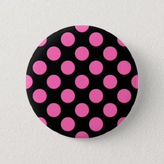 Hot Pink Polka Dots Button