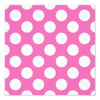 Hot Pink Polka Dots Card