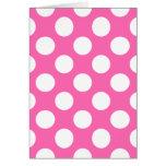 Hot Pink Polka Dots Cards