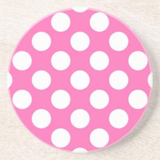Hot Pink Polka Dots Coaster