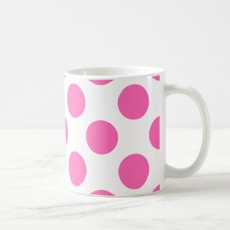 Hot Pink Polka Dots Coffee Mug
