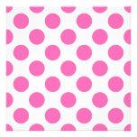 Hot Pink Polka Dots Custom Announcement